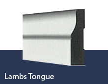 lambs tongue skirting board profile