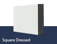Square Dressed skirting board profile